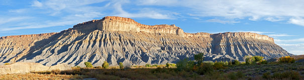 Blue Flats. Panorama of Blue Flats, at Caineville Reef in Utah stock photography