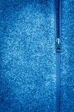 Blue Fleece Fabric With Zipper  Texture. Blue Fleece Fabric With Zipper Background Texture. Copyspace And Vignette Stock Photos