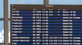 Blue flight board Stock Photo