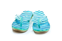 Blue flip-flops Royalty Free Stock Photo