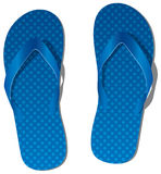Blue flip flops Stock Images