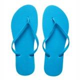 Blue flip-flops isolated Stock Photos