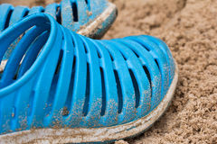 Blue flip flops Stock Image