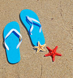 Blue flip flops Royalty Free Stock Photo