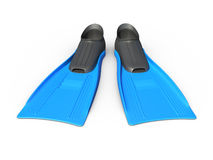 Blue Flippers Royalty Free Stock Photography