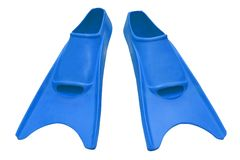 Blue flippers isolated Royalty Free Stock Photography