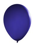 Blue floating balloon. Isolated on white stock photos