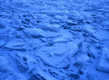 Blue floating ice Royalty Free Stock Image