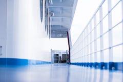 Blue floor on a ferry boat Stock Photos