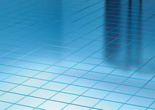 Blue Floor and Window reflect. Illustration 3d render, Blue Floor and Window reflect Stock Image