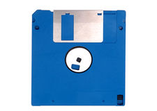 Blue floppy data disk Royalty Free Stock Image