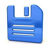 Blue floppy disk icon Royalty Free Stock Image