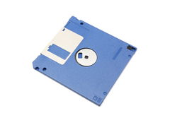 Blue floppy diskette Stock Photo