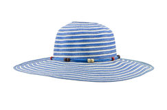 Blue floppy hat isolated on white background Stock Photos
