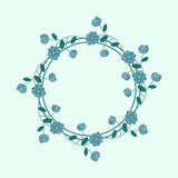 Blue floral Royalty Free Stock Images
