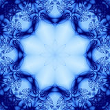 Blue Floral Abstract. From a fractal pattern Stock Illustration