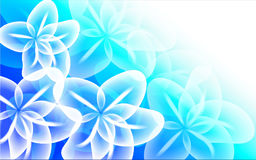 Blue Floral Abstract Background. Abstract  background design with white floral illustration Royalty Free Stock Photos