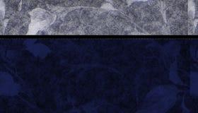 Blue Floral Background. Designed with a dark blue floral bottom and a lighter floral topper royalty free illustration