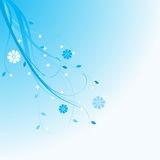 Blue floral background. With space for text Royalty Free Stock Photo