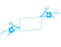 Blue floral background. With space for text Stock Photography