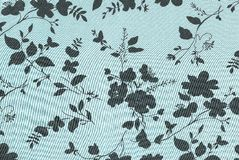 Blue floral background. Stock Image