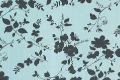 Blue floral background. Stock Image