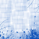 Blue Floral Background Stock Photo