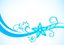 Blue floral background. Clip-art Royalty Free Stock Photo