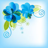 Blue floral background. Festive floral background for different events Stock Photos
