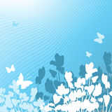 Blue floral background. Vector illustration of a blue floral background Stock Photos