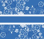 Blue floral background. Gift card (vector eps format Stock Images