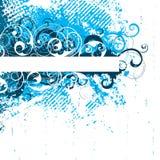 Blue Floral Background Stock Images