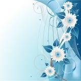 Blue Floral Background royalty free illustration