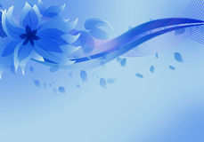 Blue floral background. Abstract blue floral background Stock Photos