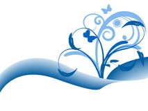 Blue floral background design Stock Photography