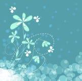 Blue floral background Stock Image