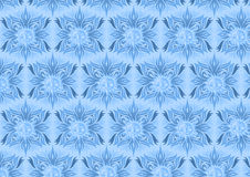 Blue floral background with sun element design Stock Photo