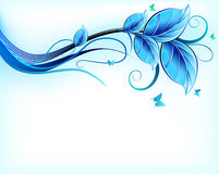 Blue floral background. Vector Stock Photography