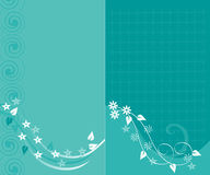 Blue floral backgrounds Royalty Free Stock Photography