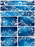 Blue Floral Backgrounds Stock Images