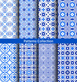 Blue floral backgrounds flower patterns Royalty Free Stock Images