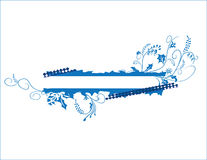 Blue floral banner Royalty Free Stock Photography