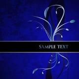 Blue Floral Banner Stock Image
