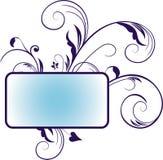 Blue floral banner Stock Images