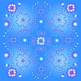 Blue floral Bckground. Blue background with floral motifs vector illustration