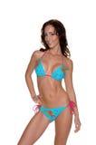 Blue  Floral Bikini Stock Photo