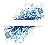 Blue floral border Stock Images