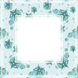 Blue floral border. Abstract floral border on a light blue background Royalty Free Stock Photography