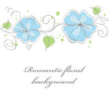 Blue floral card background Stock Photography