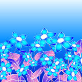 Blue floral composition. Abstract art Stock Photo
